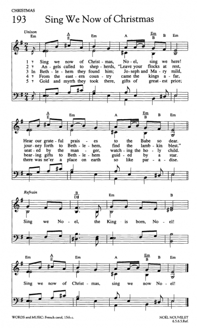 Sing We Now Of Christmas.Christmas Hymns Sing We Now Of Christmas Vandagriff Org